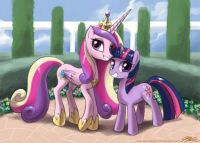 MLP: Twilight and Princess Cadance by John Joseco