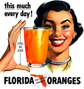 ORANGE JUICE AD - 2 - 1940's