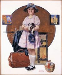 Art  Painting  Vacations Over  Norman Rockwell