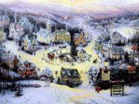 New England Village in Winter