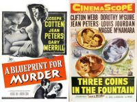 Jean Peters ~ A Blueprint for Murder ~ 1953 and Three Coins in the Fountain ~ 1954