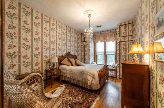 Bedroom in an expensive old house