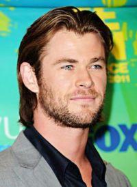 Chris Hemsworth against green