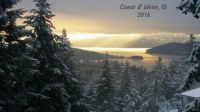 Lake Coeur d' Alene, North Idaho in December