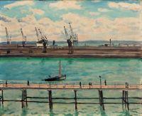 Albert Marquet (Frech, 1875–1947), The Pilots' Cove, Le Havre (1934)