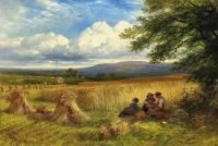 """Harvest Rest"", by George Cole, 1865"
