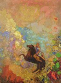 Muse on Pegasus by Odilon Redon.