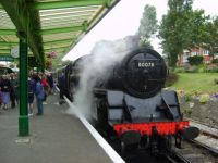 steam train in swanage dorset uk