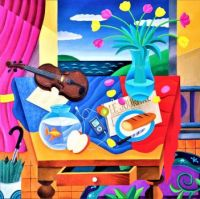 Still Life With Violin and iPod