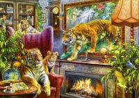 Tigers Coming To Life In The Living Room