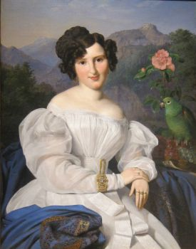 Countess Széchenyi, oil painting by Ferdinand Georg Waldmüller, 1828