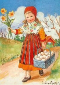 Bringing Home the Eggs & Daffodils