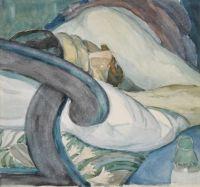 Alexander Konstantinovich Bogomazov (Russian, 1880–1930), Sleeping Man