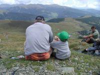 Padre e figlio sulla vetta...