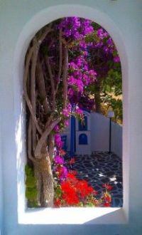 small courtyard - Greece