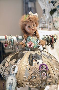 Lotsa Bling Comes Along With This Vintage Altered Art Doll