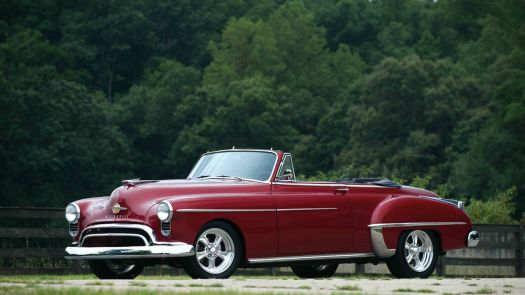 oldsmobile convertible top down - 1950
