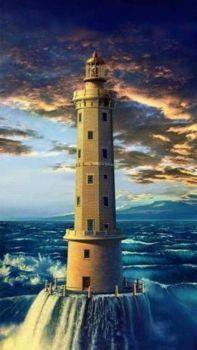 Amazing lighthouse scene