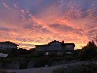 Stunning sunset over my house