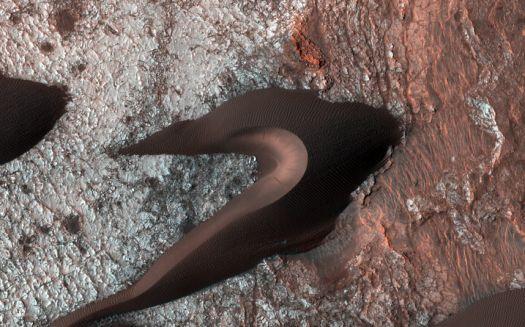 Sand dunes on Mars