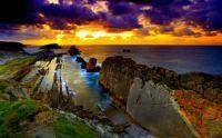 Coastal Stormy Sky at Sunset