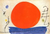 The Red Sun, 1950 by Joan Miró