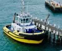 Yellow Hull Work Boat