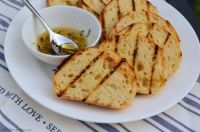 Grilled Bread with Honey-Rosemary Drizzle