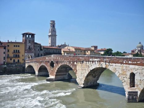 Bridge in Verona, Italy