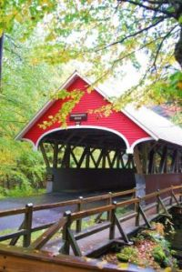 Flume covered bridge, Franconia Notch State Park -- New Hampshire....