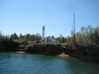 LIGHT HOUSE AT PICTURE ROCKS LAKE SUPERIOR
