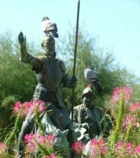 Don Quixote and Sancho Panza with Pigeons