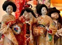 Japanese Dolls at the Historic Panama Hotel and Tea House, Seattle, Washington