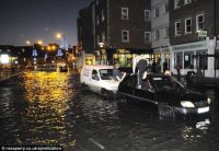 Whitby Harbour flooded - For Florrie