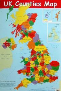 Colourful UK Map