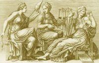 The three Fates (Moirai) - Giorgio Ghisi 1558