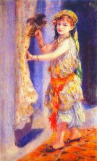 Girl with Falcon_Renoir, 1882