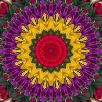 kaleidoscope 320 yellow and purple very large