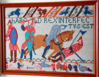 Panel from Bayeux Tapestry in Needlepoint