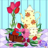Spring Flowers and Tea