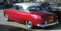 1951 Ford Victoria Red and white no side trim in Winnipeg Manitoba Canada