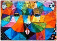 Abstract Animal Graffiti Wall Mural - Bear or Lion?