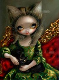 Princess with a Black Cat - Jasmine Becket-Griffith