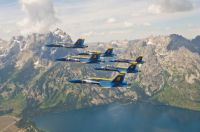 Blue Angels over Grand Tetons National Park
