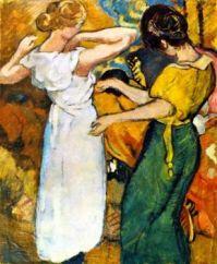 Louis Valtat (1869-1952), Jeune femme en robe blanche,1920.