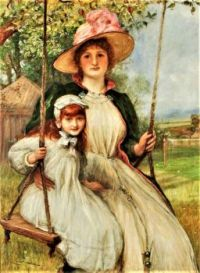 Mother and Daughter on a Swing (Happy Times), 1895