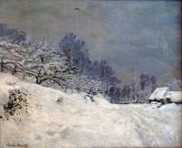 The Road in front of Saint Simeon Farm in Winter by Claude Monet