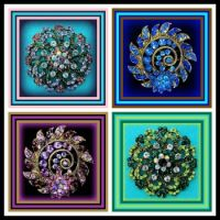 LEFTOVERS - Four Round Beautiful Brooches - Enjoy