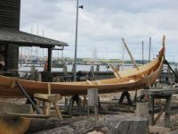 Viking ship building yard
