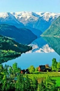 Homestead By The Lake  --  Ulvik, Norway
